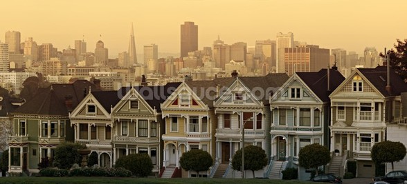 Old Houses, San Francisco wallpaper mural