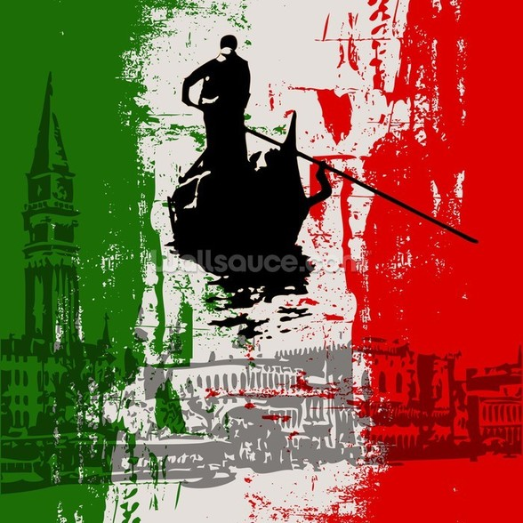Italian Flag Abstract mural wallpaper