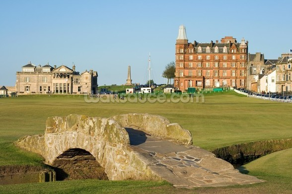 Swilcan Bridge, St Andrews Old Course wallpaper mural