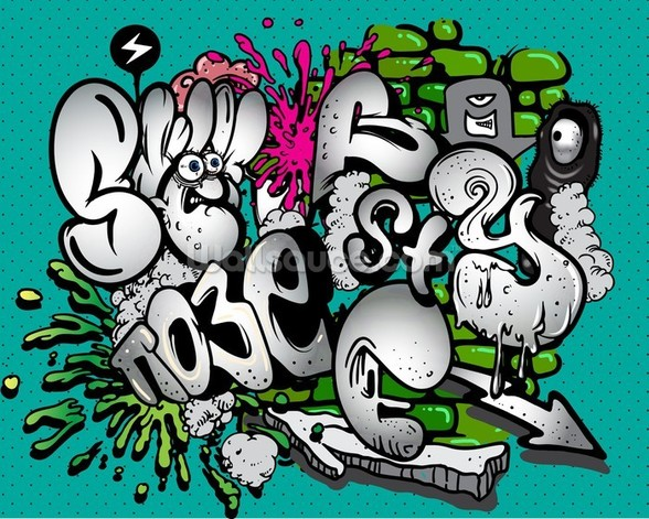 Graffiti Writing wallpaper mural