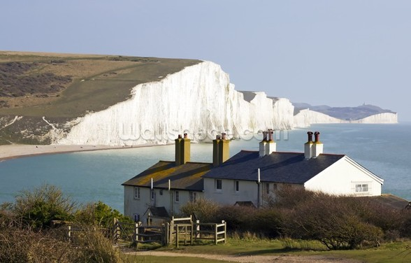 Coast Guard Cottages & Seven Sisters wall mural
