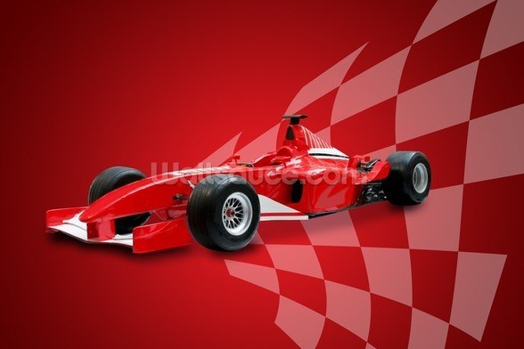 Red Racing Car wall mural