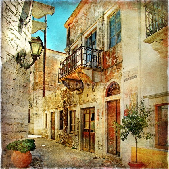Old Town, Greece wall mural