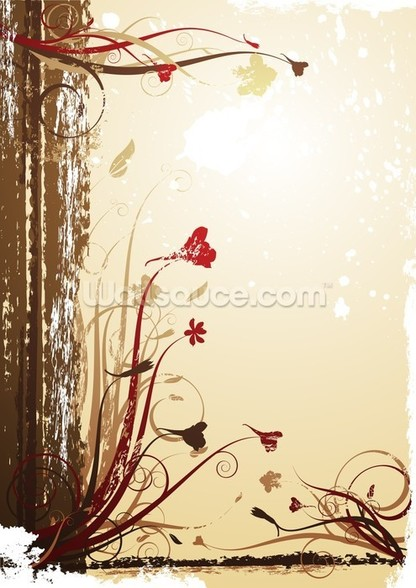 Autumnal Flowers wall mural