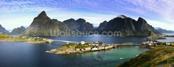 Lofoten Islands View wallpaper mural