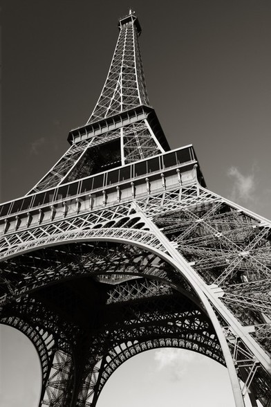 The Eiffel Tower from Below wallpaper mural