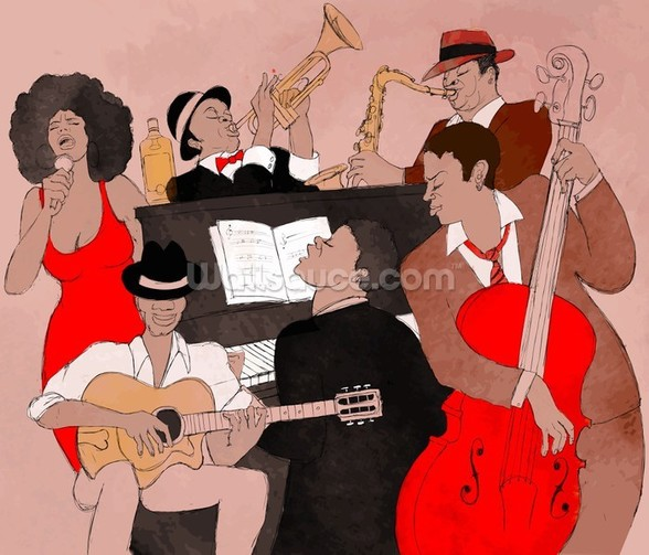 Funky Jazz Band wall mural