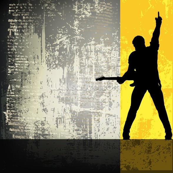Rock Guitarist wall mural