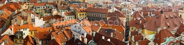 Prague Skyline Panorama wall mural
