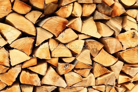 Pile of Split Wood mural wallpaper