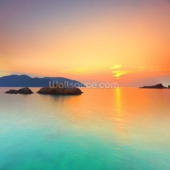 Sunrise mural wallpaper