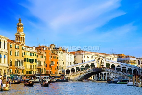 Rialto Bridge, Venice wall mural