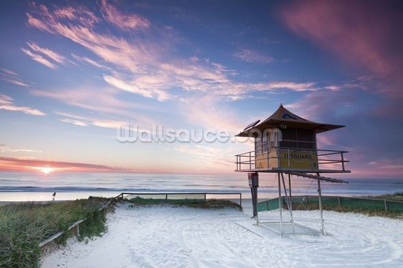 Gold Coast Lifeguard Hut mural wallpaper
