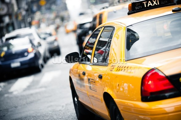 New York Taxi mural wallpaper