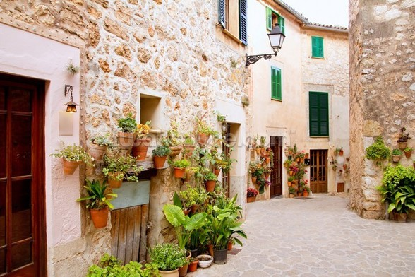 Beautiful Valldemossa mural wallpaper