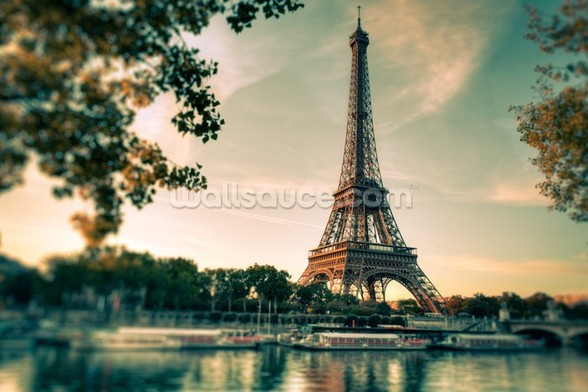 Tour Eiffel Paris France mural wallpaper