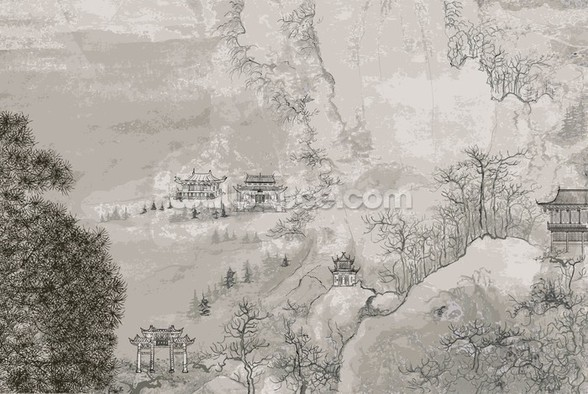 Landscape, China wall mural
