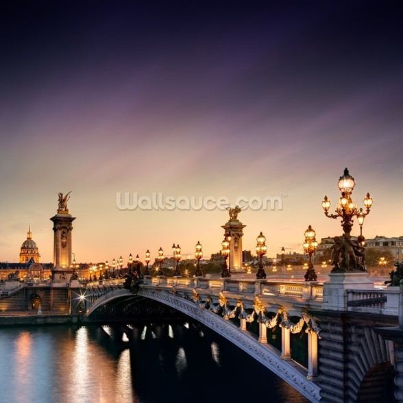 Pont Alexandre III, Paris mural wallpaper
