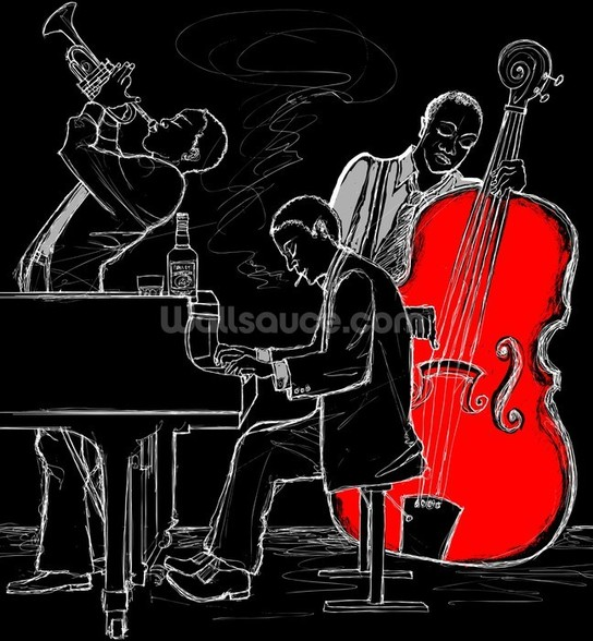 Jazz Trio mural wallpaper