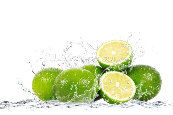 Lime Splash wall mural
