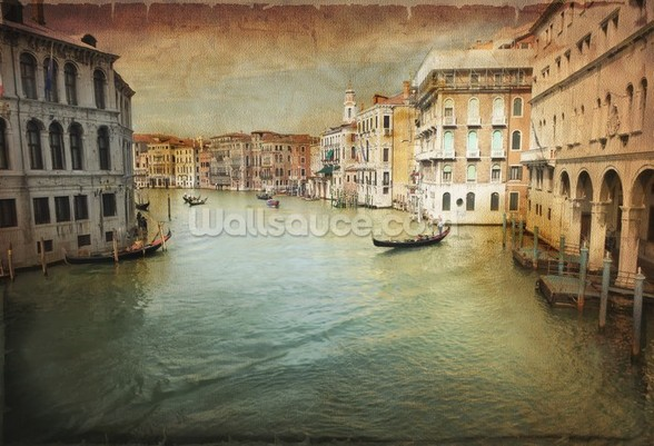 Vintage Venice wall mural