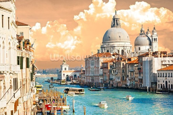 Venice Skies mural wallpaper
