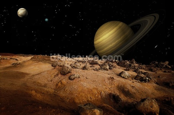 Outerspace Landscape mural wallpaper
