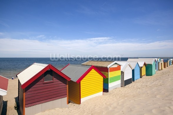 Melbourne Beach Boxes mural wallpaper
