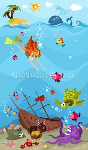 Seascape wallpaper mural