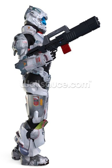 Armed Space Soldier wall mural