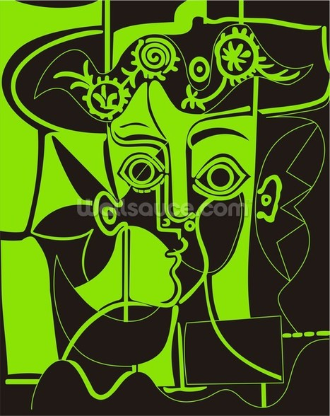 Picasso - Green wall mural