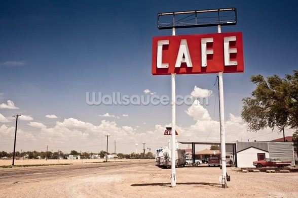 Route 66 Cafe wallpaper mural