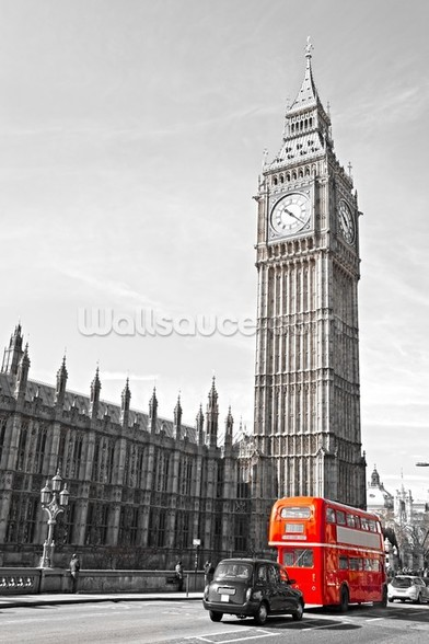 Big Ben and Houses of Parliament wall mural
