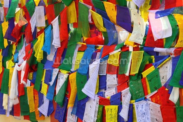 Buddhist Prayer Flags wall mural