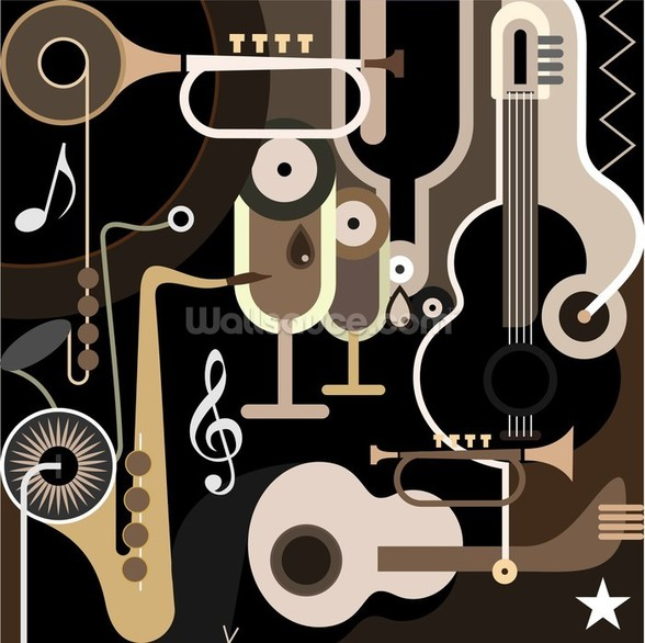 Instruments Abstract wall mural