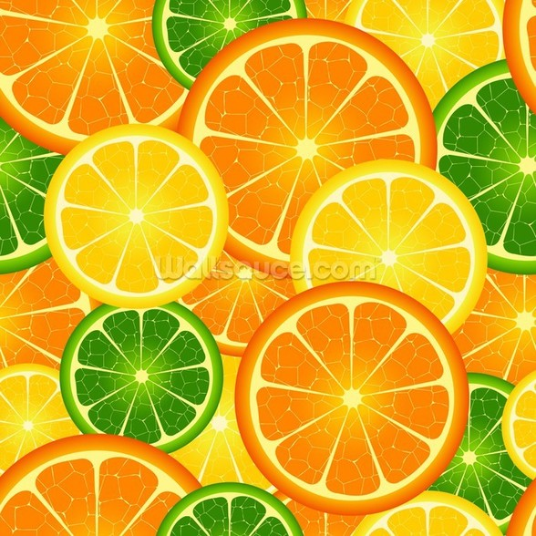 Citrus Fruits wallpaper mural