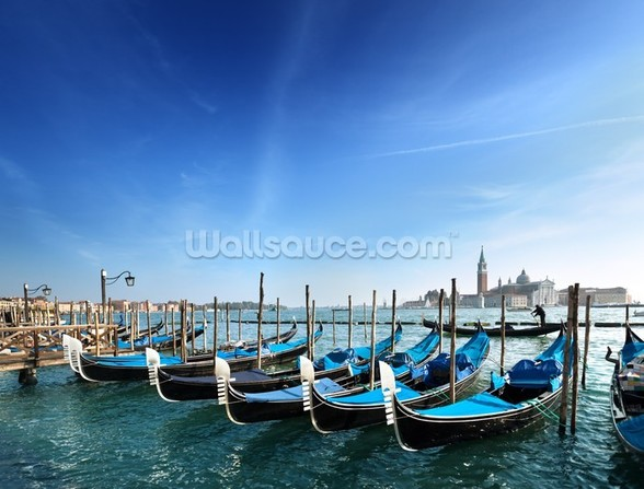 Gondolas in Venice wallpaper mural