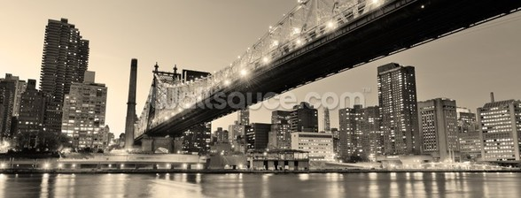 New York Sepia Panorama wall mural