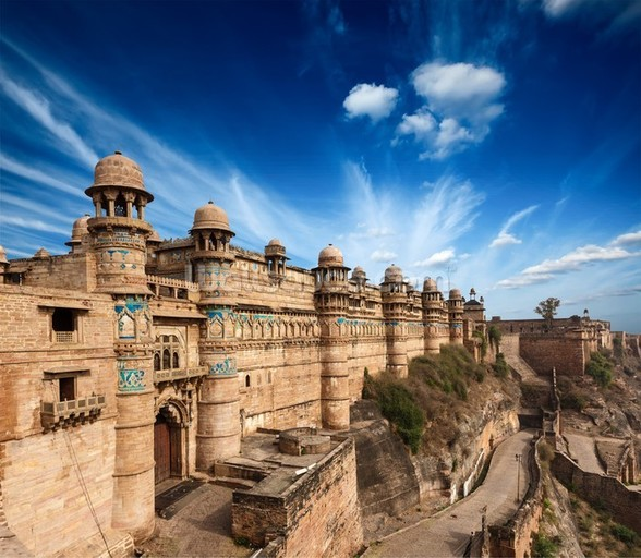 Gwalior Fort wall mural