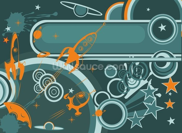 Space Abstract mural wallpaper