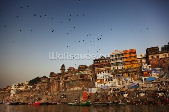 River Ganges, Varanasi mural wallpaper