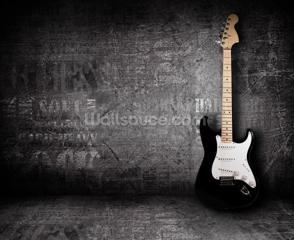 Electric Guitar mural wallpaper