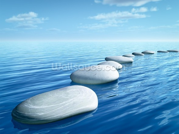 Stepping Stones wallpaper mural