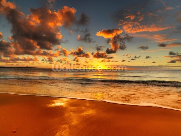 Colourful Australian Sunset mural wallpaper