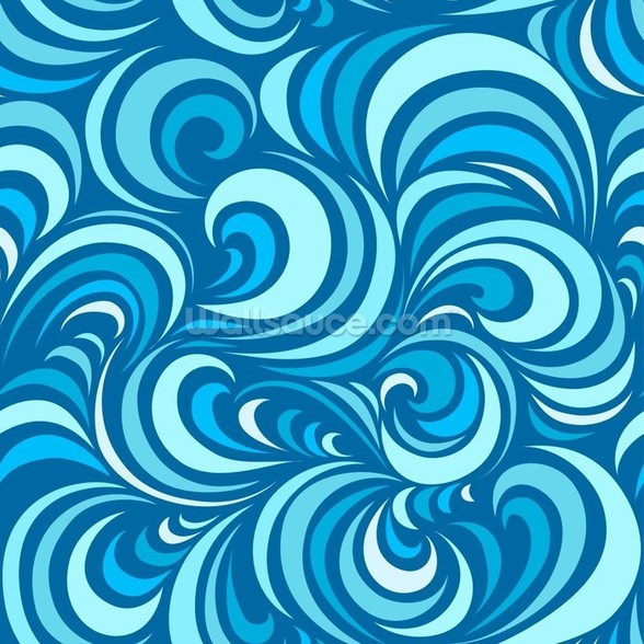 Waves mural wallpaper