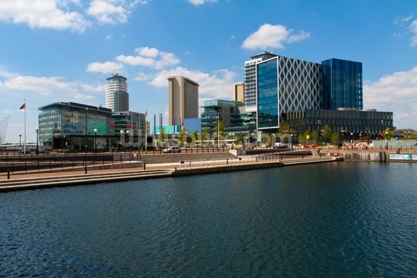 Manchester Salford Quays mural wallpaper
