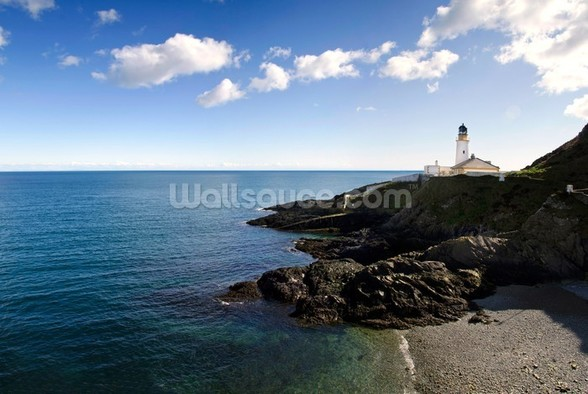 Lighthouse on Cliffs mural wallpaper
