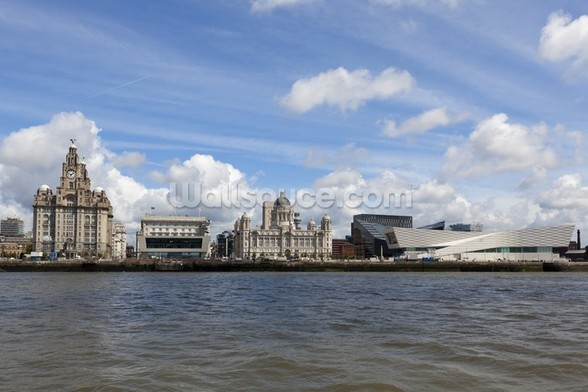 Liverpool River Mersey wallpaper mural