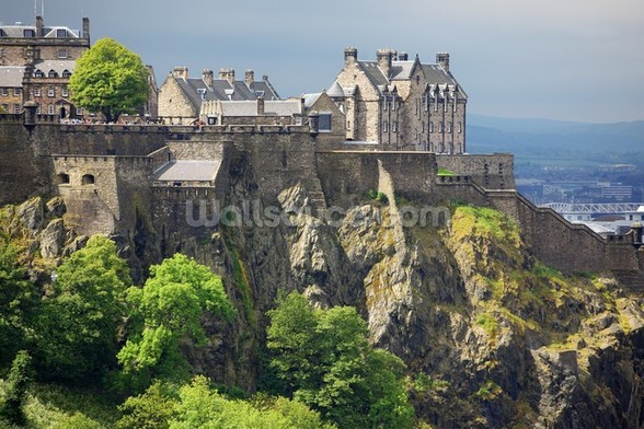 Edinburgh Castle, Scotland wall mural