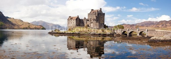 Eilean Donan Castle Panoramic wallpaper mural